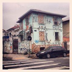 Abandoned house at Camaragibe street, Sao Paulo  Brazil