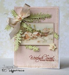 Pudrowa karteczka ..  most gorgeous Victorian Christmas card I've seen!!!