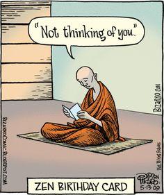 Zen buddhist Birthday card