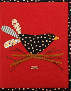 Journal cover, bird nesting, at Geoff's Mom Pattern Co.