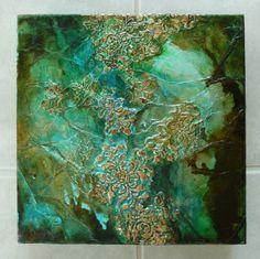 """Turquoise and Green Evolution"" / by Joy Bathie / http://www.pinterest.com/joybathie/my-own-arty-stuff"