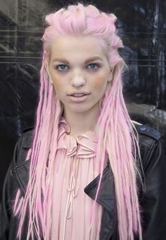 OMG...Love, Love Love the pink dreadlocks  #pastel #dreadlocks #hair