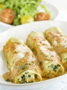 Cannelloni courgettes et chèvre - remplacer courgettes par épinards