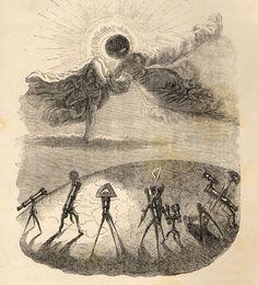 The Sun Embraces the Moon Eclipse of the Sun - J.J. Grandville