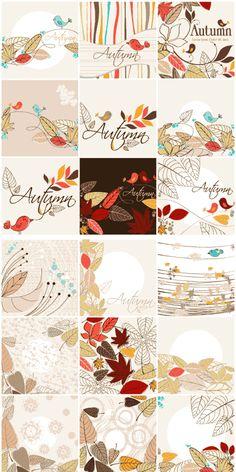 レトロポップでかわいい!秋の背景素材いろいろ23個(VECTOR) - Free-Style
