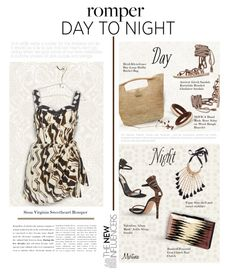 """""""Day to Night: Rompers"""" by thewondersoffashion ❤ liked on Polyvore featuring Ancient Greek Sandals, Heidi Klein, Valentino, NOVICA, Figue and Rauwolf"""