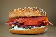 Have you tried our Nova Lox Breakfast Bagel Sandwich yet??? It has salmon, cream cheese, tomato, onions, and capers! Delicious!!!   Come to Bagels and Bites Cafe in Brighton, MI for all of your bagel and coffee needs! Feel free to call (810) 220-2333 or visit our website www.bagelsandbites.com for more information!