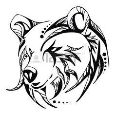 23269736-bear-head-tattoo-vector.jpg (450×450)