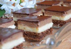 Kávékrémes kocka recept Hungarian Cake, Hungarian Recipes, Hungarian Food, Sweet Cookies, Cake Bars, No Bake Cake, Love Food, Food To Make, Dessert Recipes