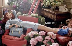 Lindsey Wixson, American model for MULBERRY Spring/Summer  2011 Ad Campaign | via www.orientsystem.com