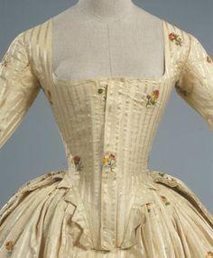 Fripperies and Fobs  Robe à l'anglaise ca. 1780  From the Galleria del Costume di Palazzo Pitti via Europeana Fashion  4/6