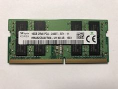 16GB (1x16GB) SK Hynix HMA82GS6AFR8N-UH DDR4 2400 260-Pin So-dimm Laptop Memory: $59.99 (0 Bids) End Date: Saturday Apr-14-2018 16:07:17…