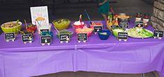 Taco bar from an Elena of Avalor Inspired Birthday Fiesta on Kara's Party Ideas | KarasPartyIdeas.com (12)