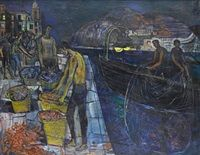 Fisherman at Blanes - Spain John Minton