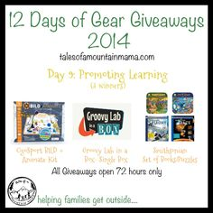 12 Days of Gear Giveaways: Day 9 - Promoting Learning | Tales of a Mountain Mama