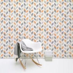 Galerie Unplugged Leaf Pattern Retro Geometric Vinyl Wallpaper UN3002