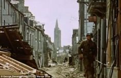 Decimated: Entire swathes of northern France were destroyed during the fighting that expelled the German forces
