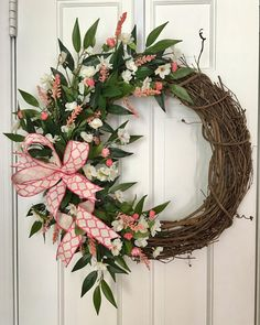 Spring Wreath Summer Wreath Floral Wreath Grapevine Wreath