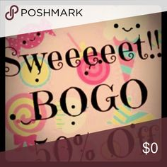 BOGO 50%off!!! Choose two items and make me an offer that includes 50% off your lesser valued item and I will accept!!  Bundle more and make me an offer!!!! Other