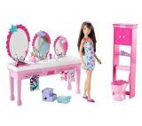 "Barbie - Sisters' Beauty Fun Bathroom Skipper Doll - Mattel - Toys""R""Us Mattel Barbie, Barbie Sets, Barbie Dolls, Barbie Stuff, Doll Stuff, Barbie Bathroom, Barbie Kitchen, Bathroom Vanities, Barbie Doll House"