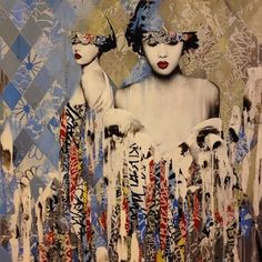 Invisiblemadevisible : UK Street Art & Culture: HUSH: FATALES at The Outsiders London