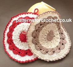 28 Ideas Crochet Rug Patterns Free Round Pot Holders For 2019 Crochet Potholder Patterns, Crochet Coaster Pattern, Crochet Dishcloths, Crochet Geek, Crochet Flower Patterns, Crochet Gifts, Free Crochet, Pattern Flower, Crochet Designs