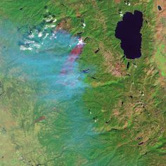 King Fire in California, False-Color Infrared | NASA