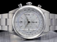 Rolex - Chronograph Pre-Daytona 6234 Cassa: acciaio - 36 mm Vetro: vetroplastica Colore quadrante: argento Bracciale: oyster Movimento: manuale