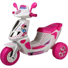 Disney Minnie Mouse 6 Volt 3 Wheel Scooter Battery Powered Ride On 2 4 Toys For Girls, Kids Toys, Muñeca Baby Alive, Minnie Mouse Toys, 3 Wheel Scooter, 3rd Wheel, Toy Kitchen, Disney Toys, My Baby Girl