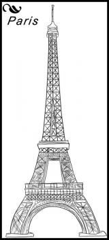 How to draw the Eiffel Tower  Could use it for a pattern