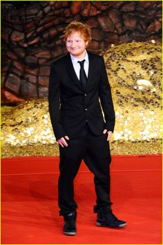 Ed Sheeran at the Premiere of The Hobbit The Desolation of Smaug at Cinestar am Potsdamer Platz Theater in Berlin, Germany (9-12-13) Monday.