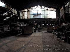 小学校グランド沿いにあった、歴史のある窯元『竹重製陶所』・・廃業となり工場跡地は更地となり、小学校の新校舎が立てられる予定。。- 有田小学校