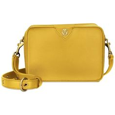 Anne Klein Sally Camera Bag ($49) ❤ liked on Polyvore featuring accessories, tech accessories, yellow, camera bag and anne klein