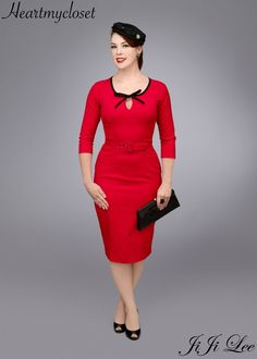 BELLA rockabilly vintage inspired dress 40s 50s by heartmycloset, $92.00