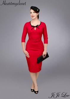 BELLA rockabilly vintage inspired dress 40s 50s custom made. $92.00, via Etsy.