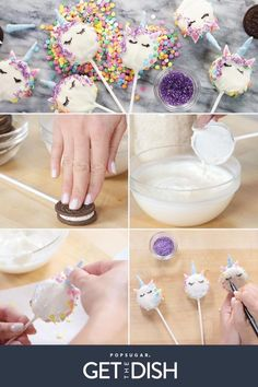 Lisa Frank-ophiles Need to Make These Unicorn Oreo Pops ASAP ) ) When and collide … you get these adorable pops! DIY Party Food 2017 / 2018 When and collide . you get these a Cookie Pops, Oreo Pops, Unicorn Cookies, Unicorn Cake Pops, Diy Unicorn Cake, Unicorn Cafe, Unicorn Birthday Parties, Cake Birthday, Birthday Ideas