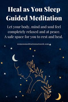 Tonight's healing sleep meditation will provide a safe space for you to rest while your body, mind and soul heal. Meditation For Health, Meditation For Anxiety, Meditation For Beginners, Meditation Practices, Mindfulness Meditation, Guided Meditation, Soul Healing, Healing Quotes, Holistic Healing