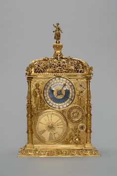 Table Clock Artist: Jeremiah Metzker - around 1530 - 1592 by Augsburg Augsburg 1564 clock Bronze, gold-plated; Mantel Clocks, Old Clocks, Antique Clocks, Kunsthistorisches Museum Wien, Unusual Clocks, Carriage Clocks, Retro Clock, Time Clock, Grandfather Clock