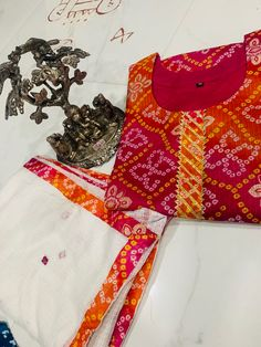 Bandhej kota doriya kurti with mirror work dupatta set Mirror Work, Jaipur, Kurti, Floral Tops, Women, Fashion, Moda, Top Flowers, Fashion Styles
