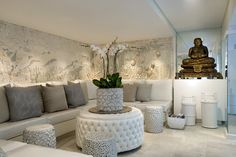 The Spa Reception Lounge at The Twelve Apostles Hotel and Spa in Cape Town, South Africa. www.12apostleshot...