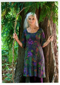 """""""Shadow"""" micromodal/spandex dress – Woodland – GUDRUN SJÖDÉN – Webshop, mail order and boutiques   Colorful clothes and home textiles in nat..."""