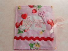 Strawberry themed needle case £4.50