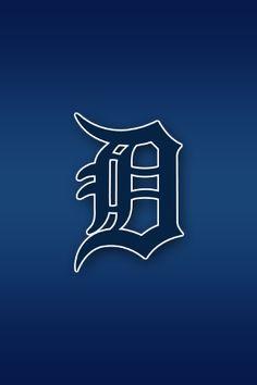 Detroit Tigers Mobile iPhone Dark blue Wallpaper