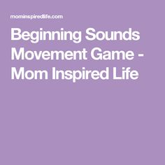 Beginning Sounds Movement Game - Mom Inspired Life