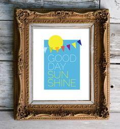 The Beatles Inspired Good Day Sunshine   nursery art by stellagirl, $20.00