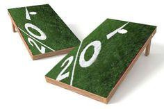 Football Field Cornhole Board Set - Customizable