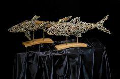#fish - A #smart way to #recycle something. #sculpture #nature #animal #artist #metalart #contemporaryart #recycling #innovation #art #artwork