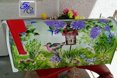 "THIS ITEM IS AVAILABLE BY CUSTOM ORDER ONLY.    Hand painted mailboxes are unique, decorative and showcase something special to you or your family.  What a great way to personalize your mailbox.  Decorative mailboxes are made using a new, standard sized mailbox (20"" L x 7"" W x 8.75"" H)  and reflective numbers.  Mailbox flags and doors are not painted (o.k. perhaps a small bug or butterfly or space"