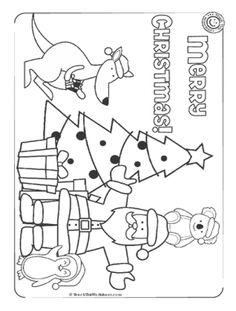 Printable Aussie Christmas colouring page  Australian Christmas