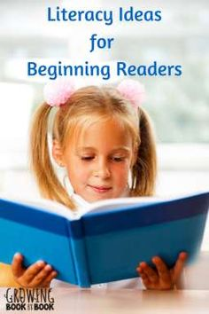 lots of literacy ideas for helping beginning readers from growingbookbybook.com